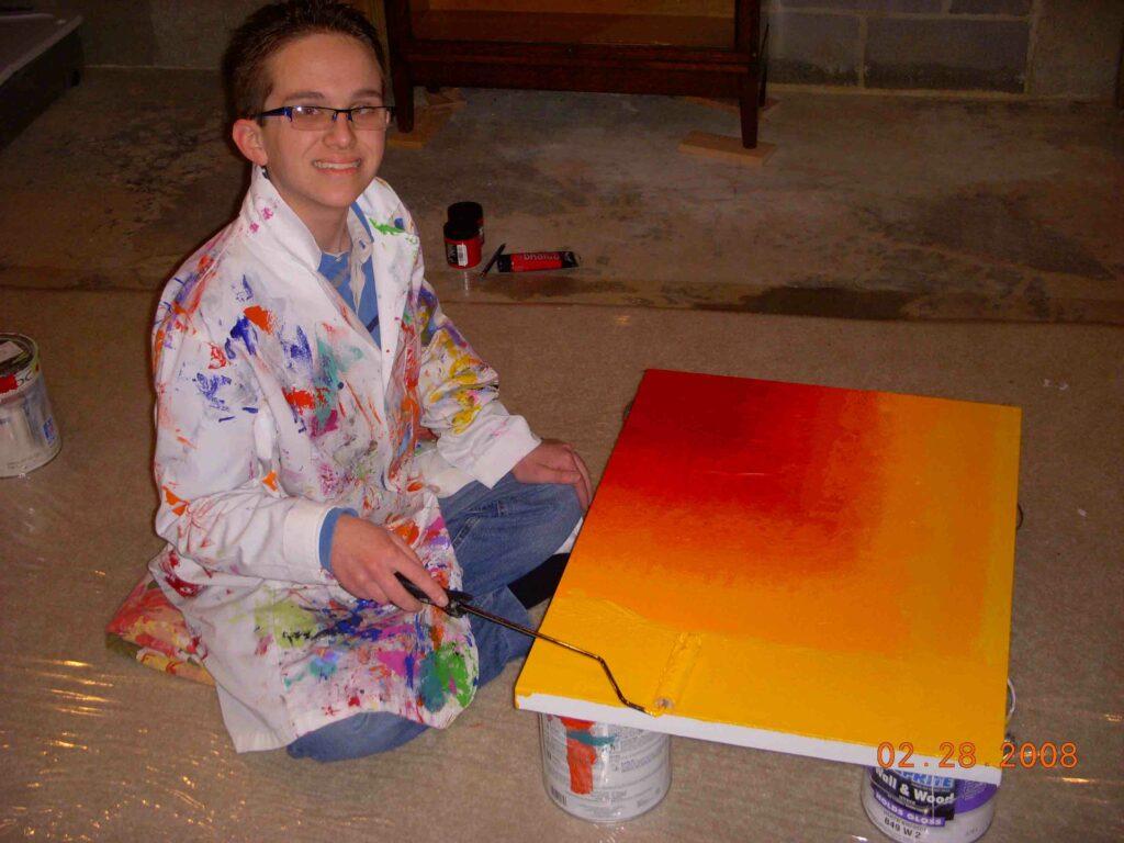 Harold Ramis Painting, Year Zero