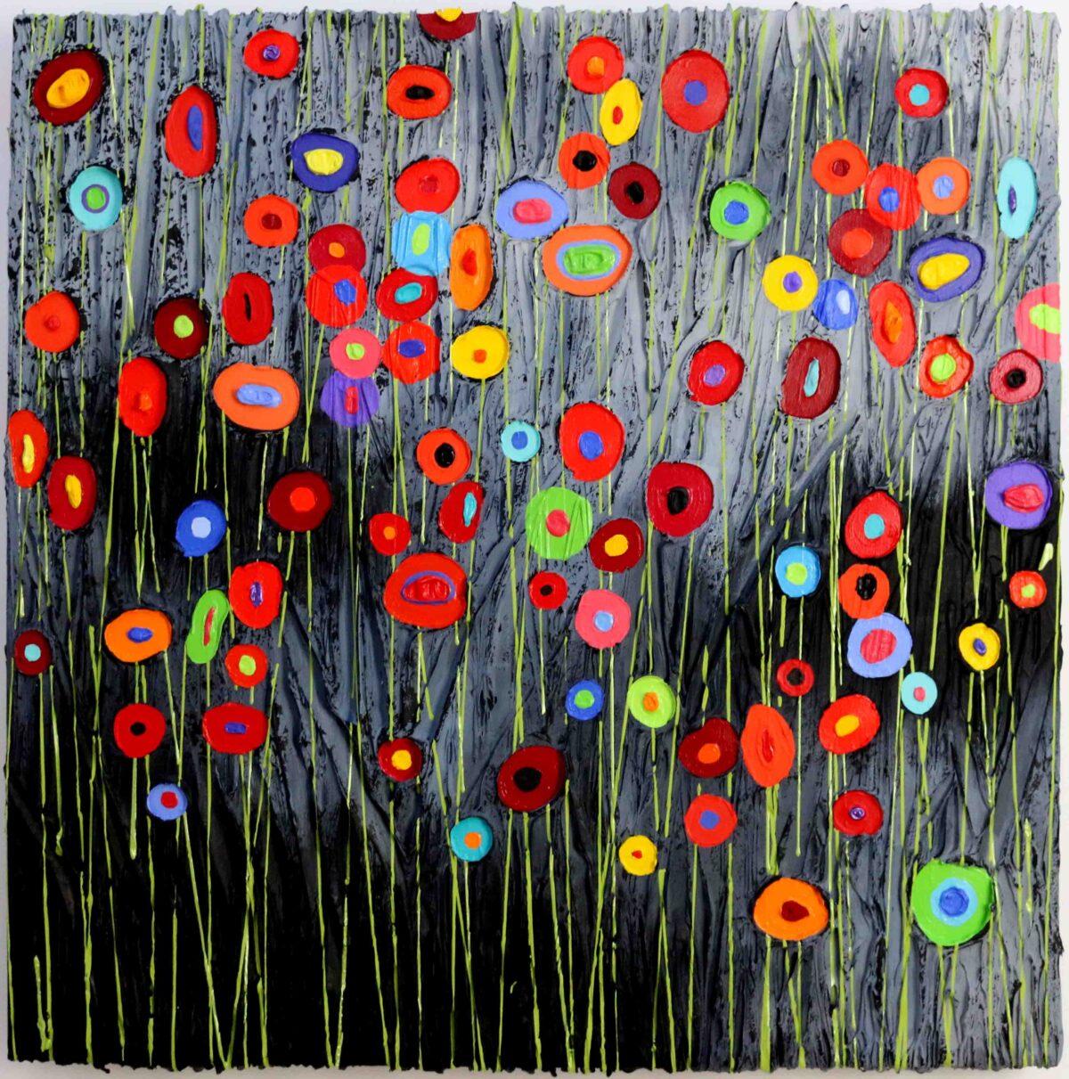 """Barcelona Celebration"" - Jeff Hanson Art Original Painting"