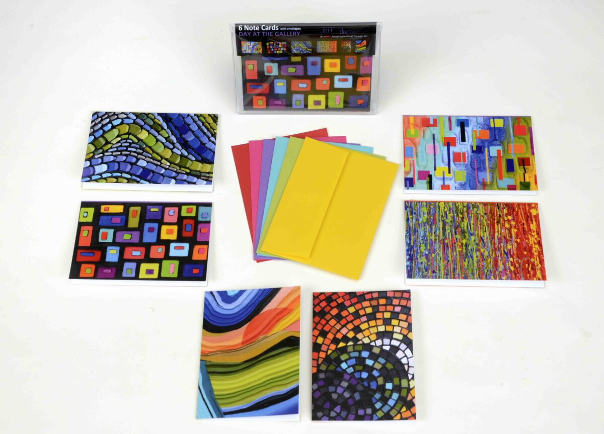 Day at the Gallery - Jeff Hanson Note Cards